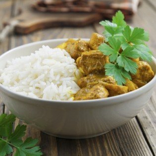 Pork Colombo with rice