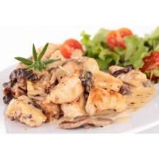 Chicken mushroom with cream high-protein dish