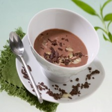 Chocolate and pear Creamy dessert