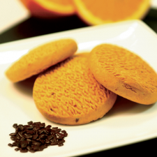 Orange palet biscuit with chocolate chips