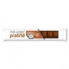 Tablette saveur cacao et praline avec éclats de noisettes, avec édulcorants
